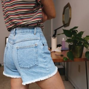 Pants - vintage 90s cut off high waist denim shorts